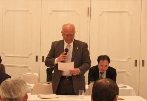 菊地副会頭に『オールかまいし』宣言決議文を読み上げていただきました