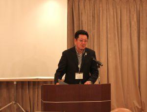 現在の釜石市の取り組み状況を説明する松岡主幹