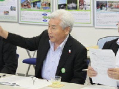 道路・港湾5団体合同要望を実施、山崎会頭が参加しました。